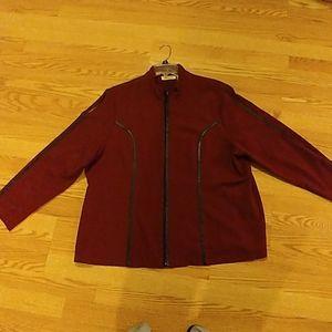 Selene sport Burgundy zip up jacket size 22